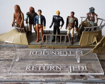 Holy Grail 1984 Kenner POTF Tatooine Skiff (aka Jabba's Sail Barge, the Khetanna), crewed with stand