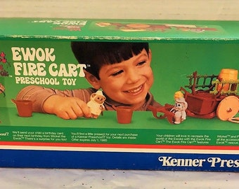 1984 Kenner Ewok Fire Cart, Return of the Jedi, MIB