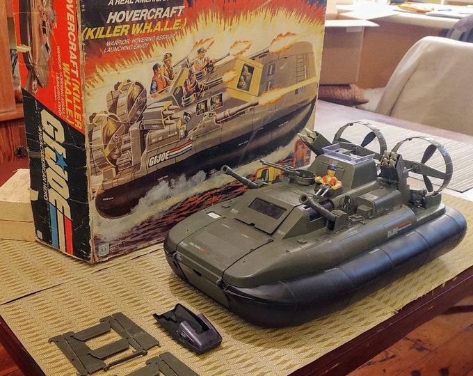 Featured listing image: 1984 GI Joe ARAH Killer Whale Hovercraft, Hasbro A Real American Hero