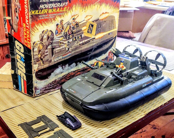 Featured listing image: HOLD 4 Kacey 1984 GI Joe ARAH Killer Whale Complete in Box, Hovercraft, Hasbro, A Real American Hero