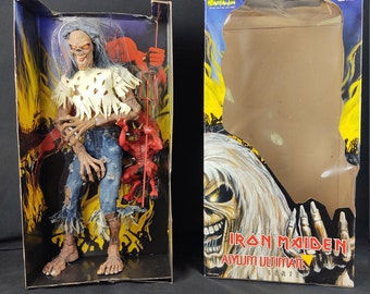 Iron Maiden Eddie, Asylum Ultimate Series, 18 Inches of Bad Ass Eddie!  COMPLETE With Demon, and Mint in box!