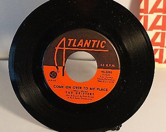 1967 The Drifters 45 rpm Come on Over To My Place/Chains of Love from Atlantic Records