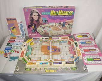 Vintage 1989 Electronic Mall Madness Board Game Working and Complete, Milton Bradley!!!