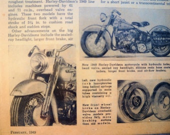 Original 1949 Indian Motorcycle Co. and Harley-Davidson Advertisement