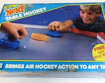 Vintage 80s NERF Parker Brothers Air Hockey In Original Box