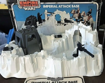 Complete, Very Clean 1980 Kenner Star Wars Imperial Attack Base With Instructions and Pretty NICE Box