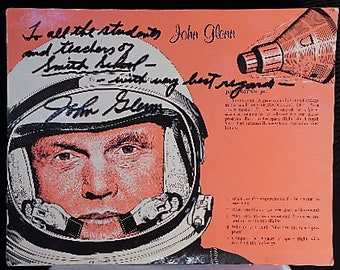 "Signed John Glenn Poster to ""Smith School"" early 1970s"