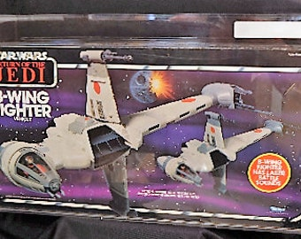 Vintage AFA 70+ B-Wing Fighter Kenner Star Wars Return of the Jedi MISB