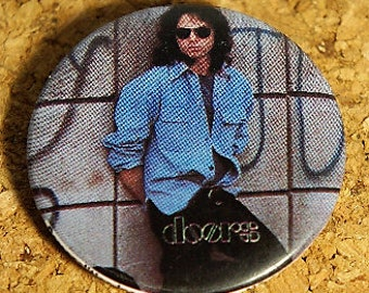 "Vintage Jim Morrison ""The Doors"" metal pinback"