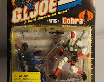 2001 Hasbro GI Joe Snake Eyes VS Storm Shadow MOC Real American Hero!
