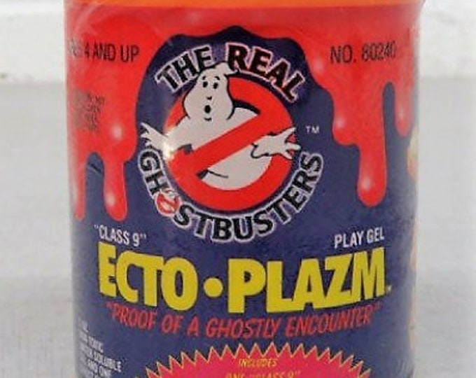 Featured listing image: 1987 Kenner Real Ghostbusters SEALED Purple Ecto-Plazm, FIRST Issue of Ecto-Plazm