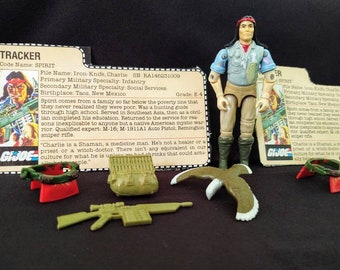 1984 Hasbro GI Joe Tracker Complete, Freedom eagle with feet, V1 Tracker ARAH