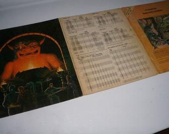 Advanced Dungeons & Dragons Dungeon Masters Screens TSR 1981