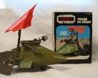 1983 French Canadian Star Wars Return of the Jedi Desert Sail Skiff MIB