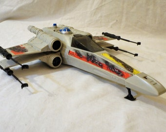 Vintage Kenner Star Wars  Battle Damaged X-Wing Fighter With Working Electronics