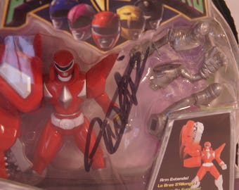 2009 Red Ranger Might Morphin Power Rangers signed action figure NIB