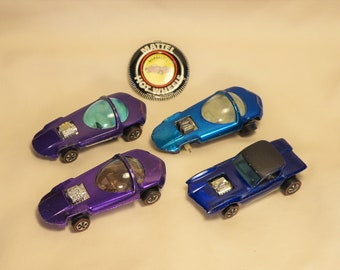Vintage (NOT REISSUE) Redline Hot Wheels and Buttons, Silhouette, Python, Your Choice
