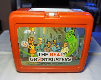 Vintage 1986The Real Ghostbusters Thermos Lunch Box