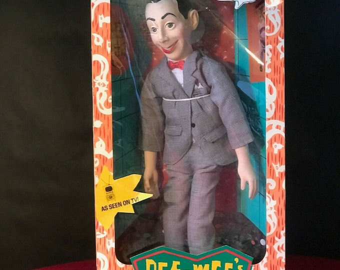 Featured listing image: 1987 Matchbox Talking Pee Wee Mint in Box, Perfect Voice Box!