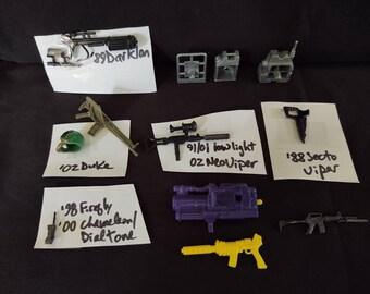 Hasbro GI Joe ARAH Parts, Accessories, Weapons