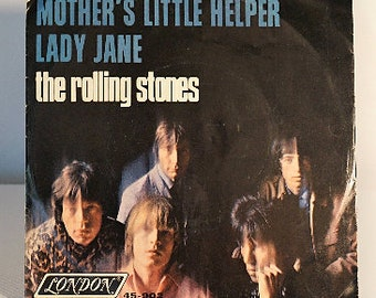 The Rolling Stones 45 Mother's Little Helper/Lady Jane London Records Cat. No. 45-902 with Photosleeve