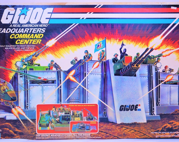Featured listing image: 1983 Hasbro GI Joe Headquarters HQ Complete In Box ARAH