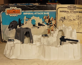 1980 Kenner Star Wars Imperial Attack Base Clean and Complete (Yes It Has Both Hatches) With Instructions and Decent Box