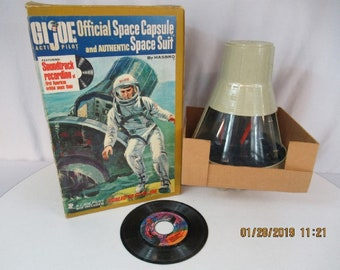 Vintage Hasbro 1966 GI Joe Space Command Capsule, complete with bonus Joe