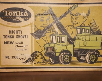 1970 Mighty Tonka Lime Green Shovel IOB
