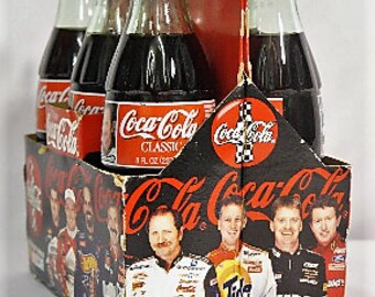1997 Coca-Cola Dale Earnhardt and Dale Earnhardt, Jr glass bottle six-pack NASCAR The Intimidator #3