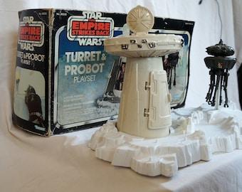 Vintage Kenner Star Wars Empire Strikes Back Turret & Probot Playset IOB 1981
