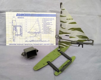 1984 GI Joe ARAH Manta Complete With Blueprints, Hasbro A Real American Hero