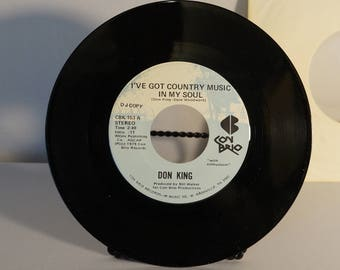 1979 Don King 45 rpm I've Got Country In My Soul Con Brio Productions DJ copy