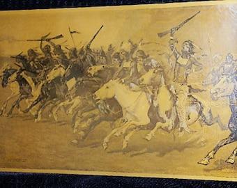 Antique Frederic Remington Copper Photogravure