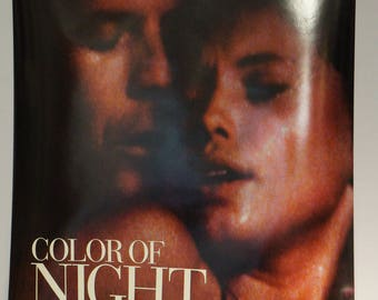 "1994 ""Color of Night"" movie D/S one sheet poster, Bruce Willis and Jane March"
