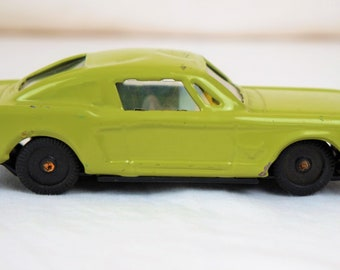 Louis Marx 1967 Ford Mustang Fastback Pressed Steel, Green and Black
