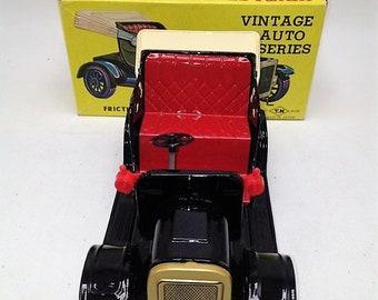 Vintage Japan Tin Litho Friction Vintage Auto Collection No. 4 MIB