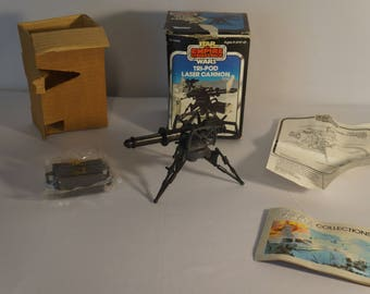 1982 Kenner Empire Strikes Back Star Wars Tripod Laser Cannon mini rig MIB, insert, sealed bags, complete