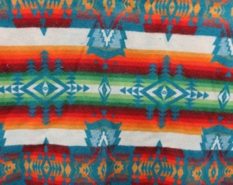 Vintage Pendleton Beaver State Wool Indian Trade Blanket, gorgeous colors, native patterns