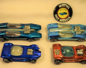 Vintage (NOT REISSUE) Redline Hot Wheels and Buttons, Splittin Image, Beatnik Bandit Your Choice