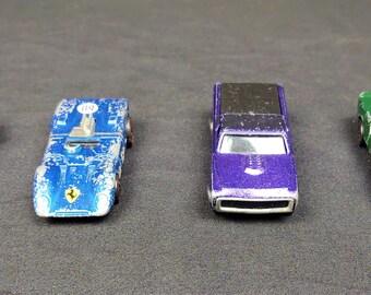 Redline Hot Wheels 1968 US Python, Blue, 1969 US Custom Fleetside, Purple, 1970 Hong Kong Ferrari 312P, Blue, 1969 US Lola GT70, Your Choice