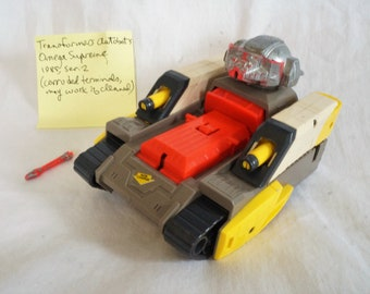 1985 Hasbro ToyBox G1 Transformers Omega Supreme electronic tank