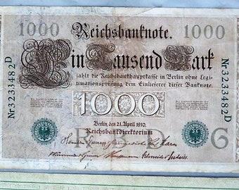German 1,000 Reichsbanknote 1910