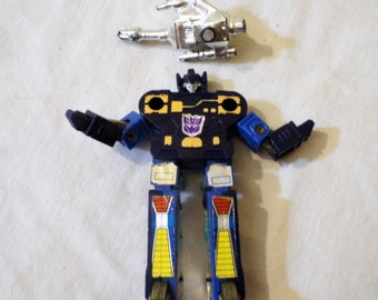 1984 Hasbro Takara G1 Transformers Frenzy micro cassette with one weapon