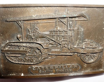 Vintage 1976 Caterpillar Syracuse Supply Company Operator Training Award belt buckle