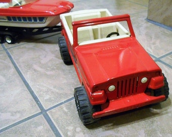 Holy Red, White and Blue, Miss Budweiser, 4th of July, Tonka Jeepster and Runabout Explosion Batman!