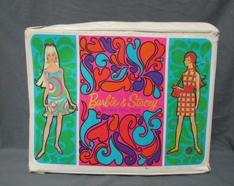 1967 Mattel Barbie and Stacey Double Doll Case
