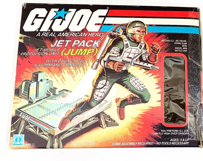 Featured listing image: GI Joe 1983 Silver Pads Grand Slam With JUMP 100% Complete in Box, Super Rare, ARAH, Hasbro, High Grade