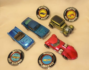 Vintage (NOT REISSUE) Redline Hot Wheels and Buttons, TwinMill, 32 Vicky, 57 'Bird, Custom Barracuda, Your Choice