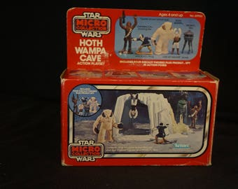 1982 Kenner Star Wars ESB Hoth Wampa Cave Micro Collection Playset MIB, Sealed Bags, Revenge of the Jedi insert